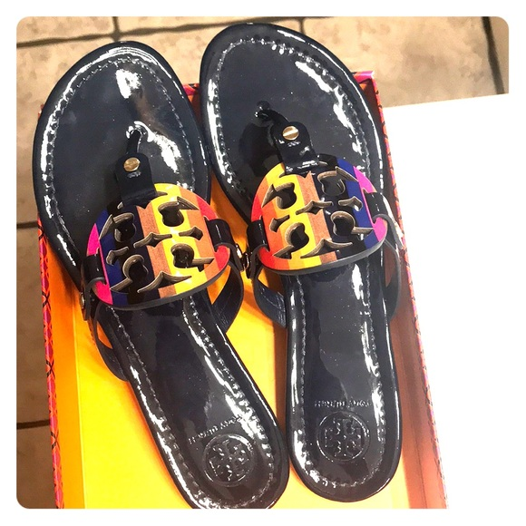 84757648f6c14 TORY BURCH MILLER NAVY PATENT RAINBOW size 7. M 5a9e0e0c00450fb09a9cdb2b.  Other Shoes you may like